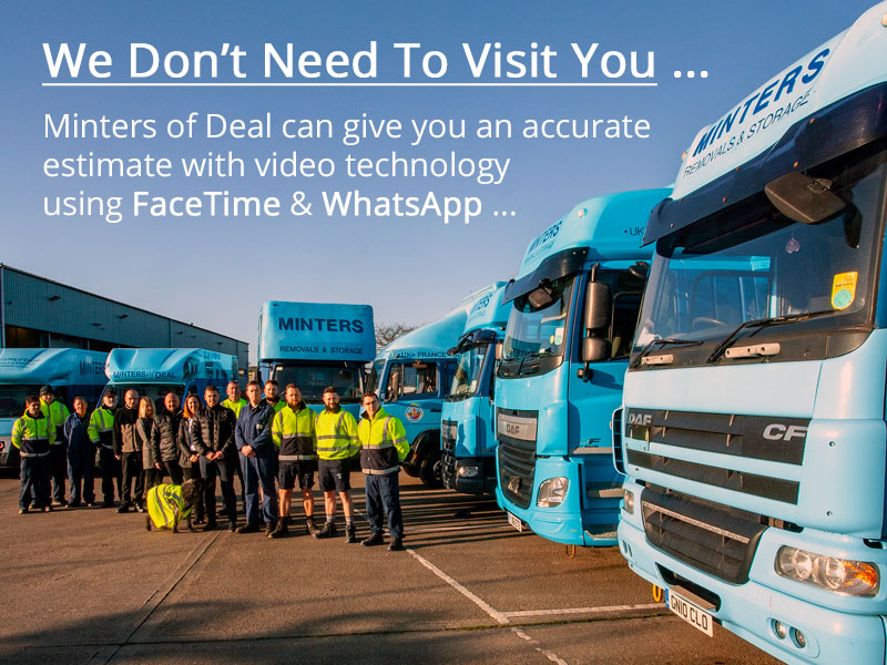 Minters of Deal provide video call using WhatsApp or Facetime